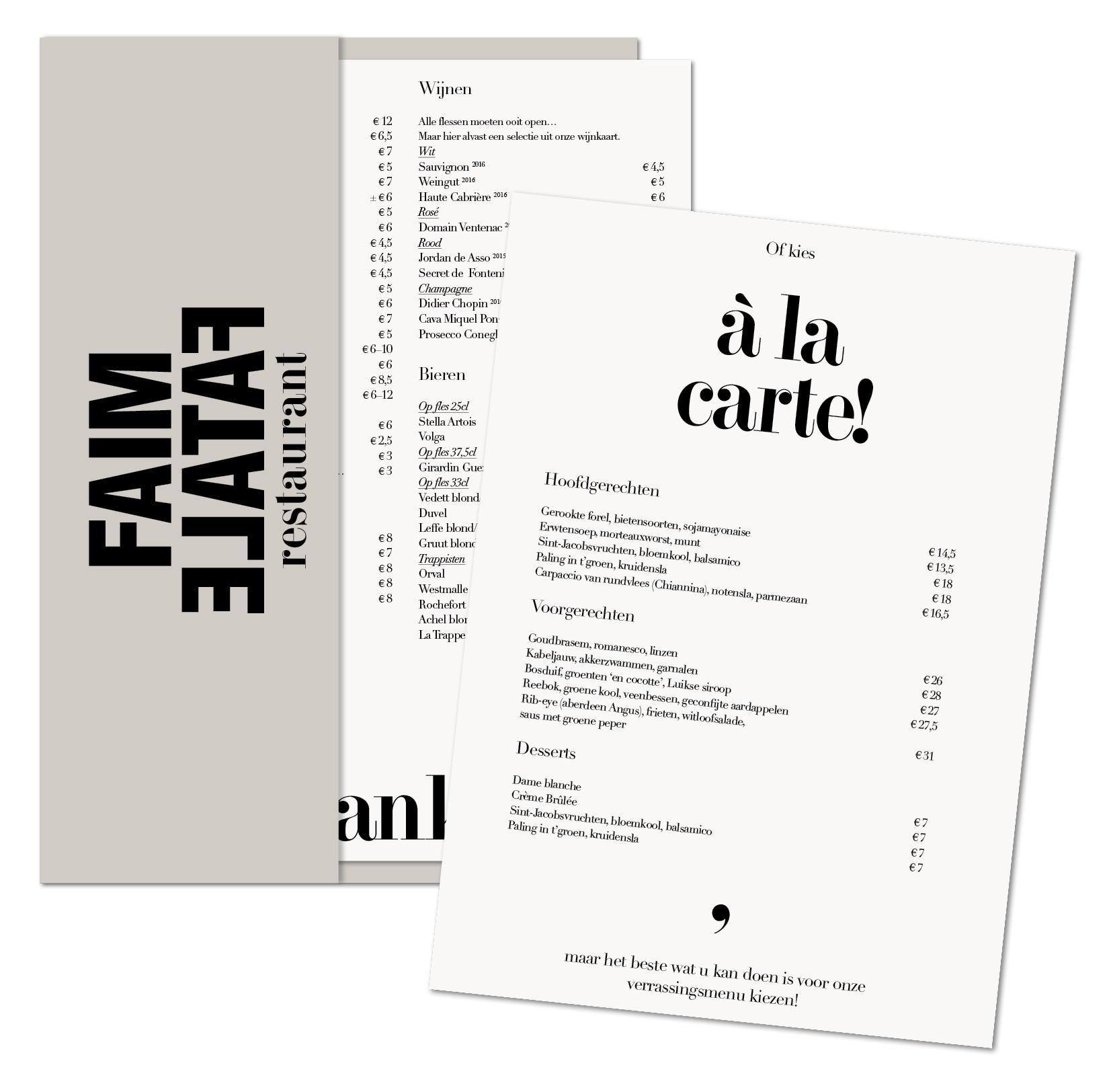 Faim Fatale logo design Lauren Grusenmeyer