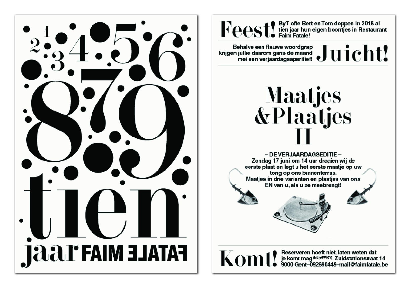 Faim Fatale invitation design Lauren Grusenmeyer