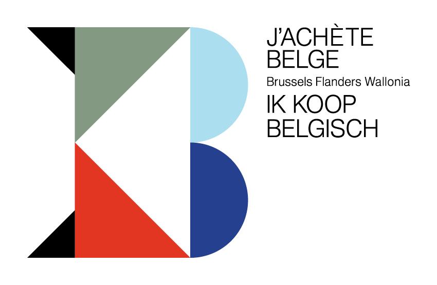 Ik Koop Belgisch logo design Lauren Grusenmeyer