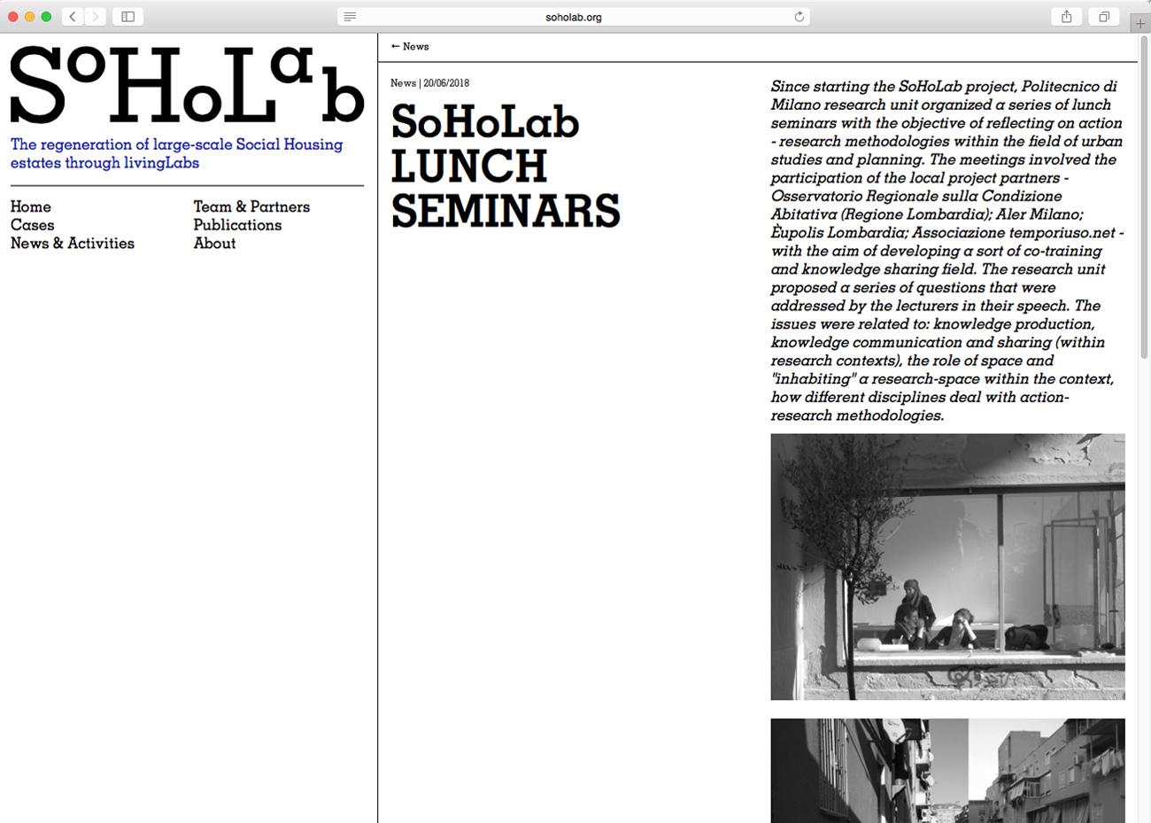 SOHOLAB website