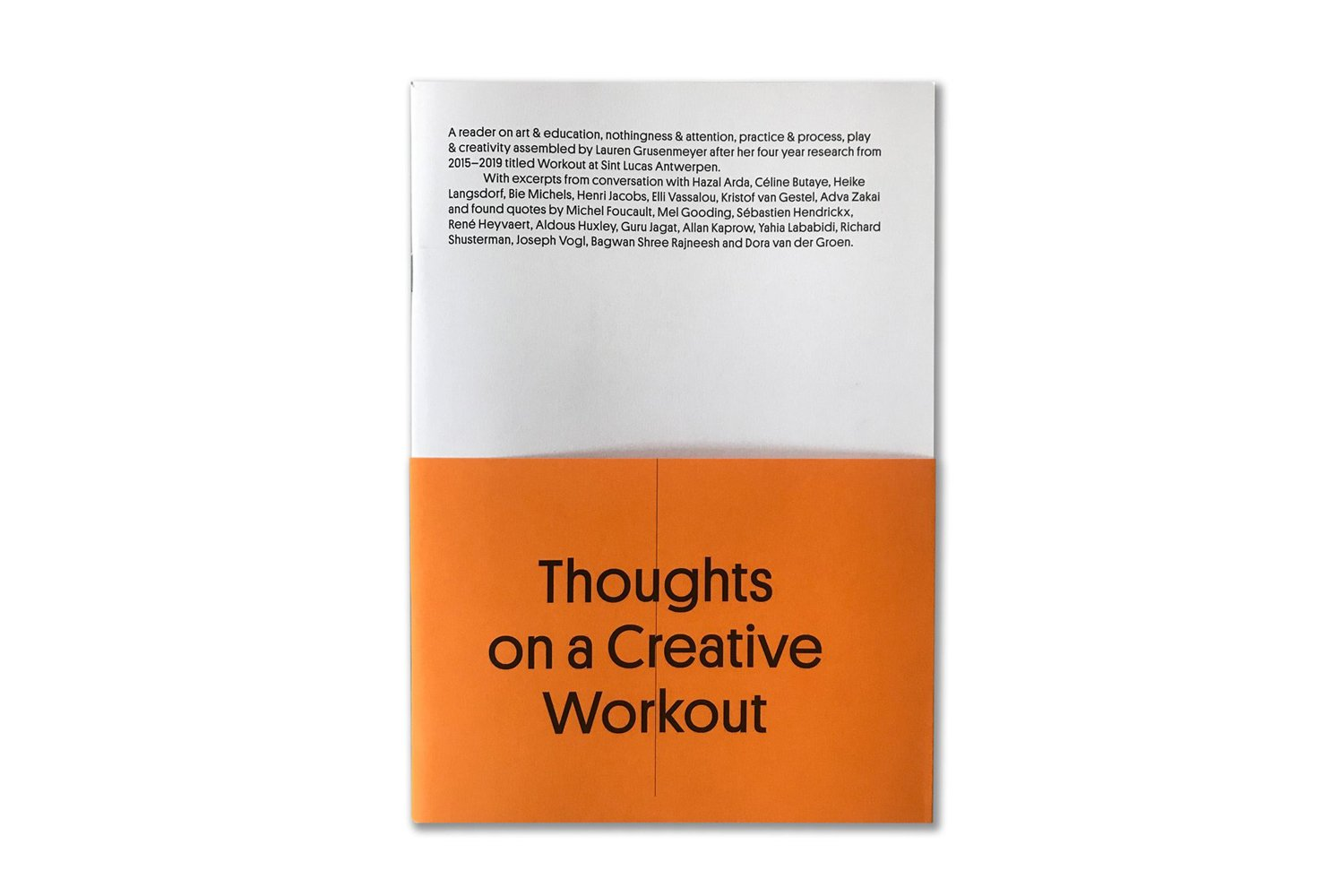 Thoughts on a creative workout